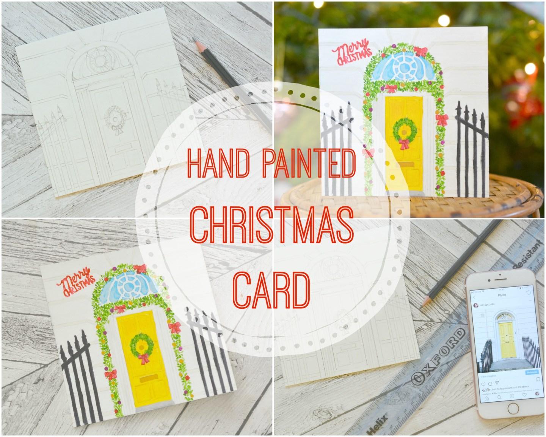 Hand Painted Christmas Card DIY #Blogmas