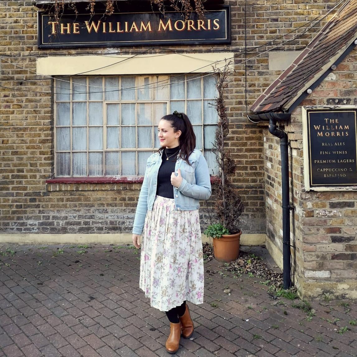 What I've Been Wearing - January 2019 | 90s floral vintage skirt | Vintage Frills