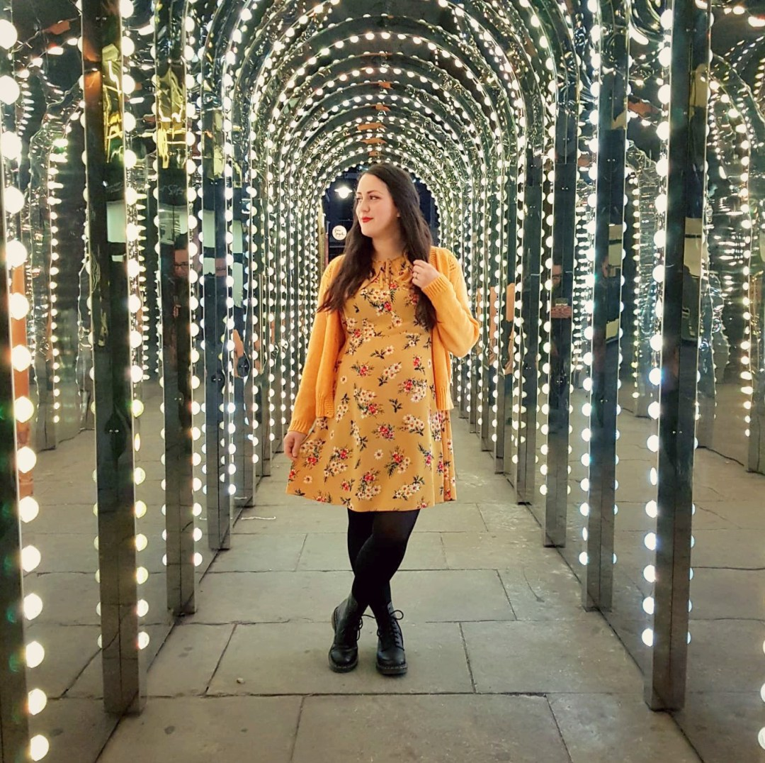 What I've Been Wearing - January 2019 | Yellow floral dress and vintage yellow cardigan | Vintage Frills