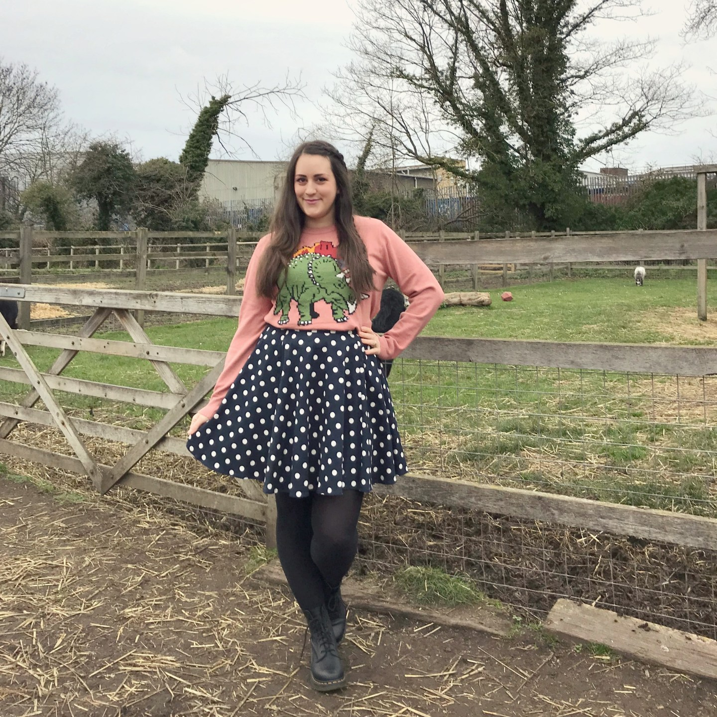 What I've Been Wearing - January 2019 | Joanie Clothing dinosaur jumper and polkadot skirt | Vintage Frills