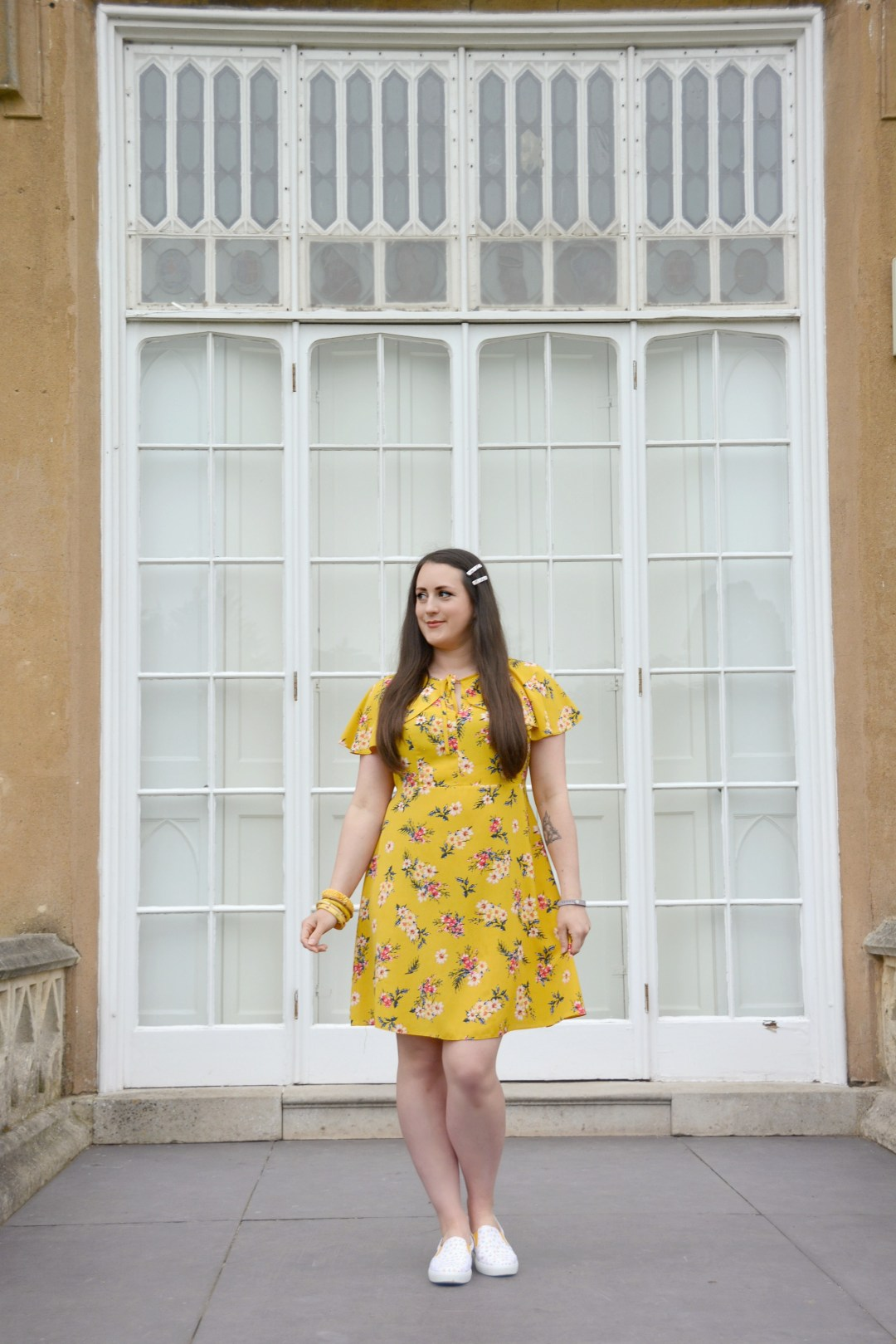 Pretty Daffodil Shoes for Marie Curie - Hotter Tara Shoe Review | Vintage Frills