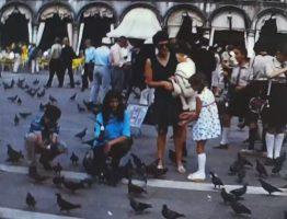A Super 8 film shot in St Mark's square in Venice during 1970