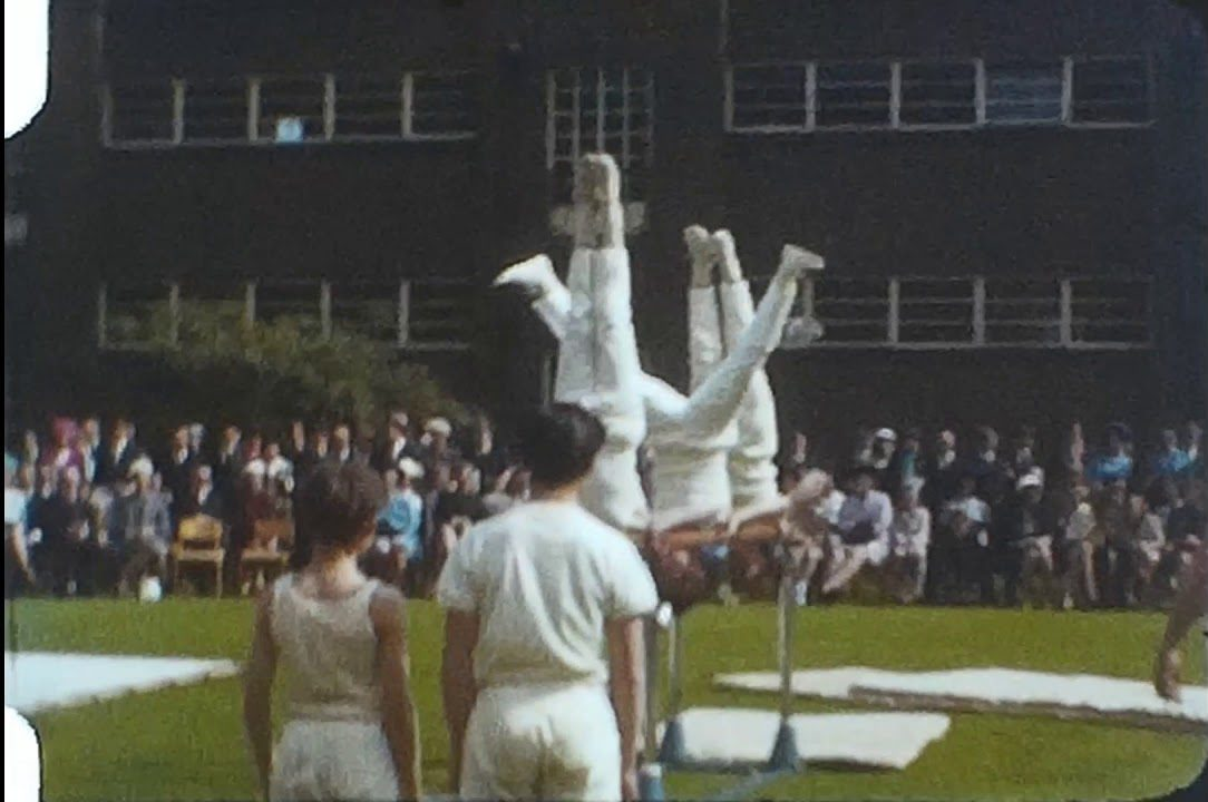 Athletics display at a public school
