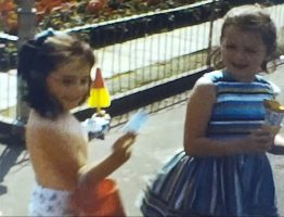 A still image from a vintage home movie of a trip to Brighton and London