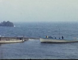 A scene from a vintage home movie taken in 1966 on the Scilly Isles