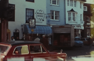A picture of a Pub in Brighton from a vintage home movie taken during a day trip to Brighton in the 1960s
