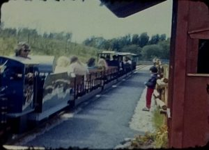 A screenshot from a vintage home movie taken at a trip to a Zoo in the 1970s