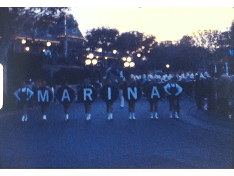 High School Parade from Marina in about 1975 1