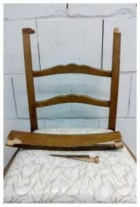 zerbrochene Stuhllehne