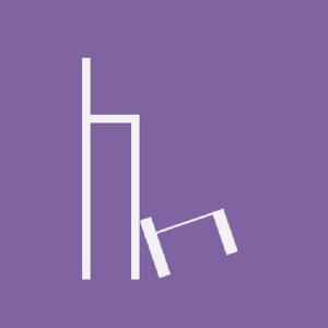 lila kachel - zwei stühle