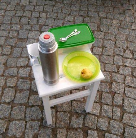Frühstück am Schrebergarten