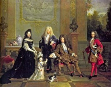 Porträt Ludwig des XIV. und Waden Erben