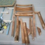 Demontierter Stuhl vor der Neuverleimung
