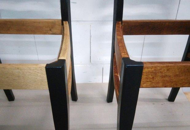 Stühle beim Ölen
