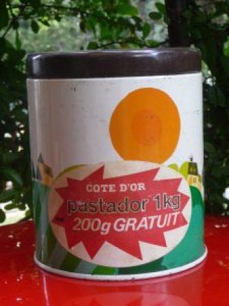 boite en métal collector de la pâte à tartiner belge Pastador