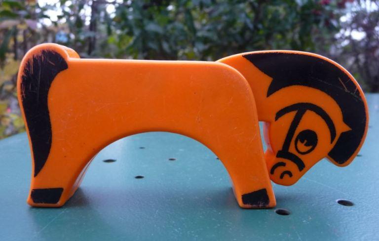 Animaux Educalux cheval orange