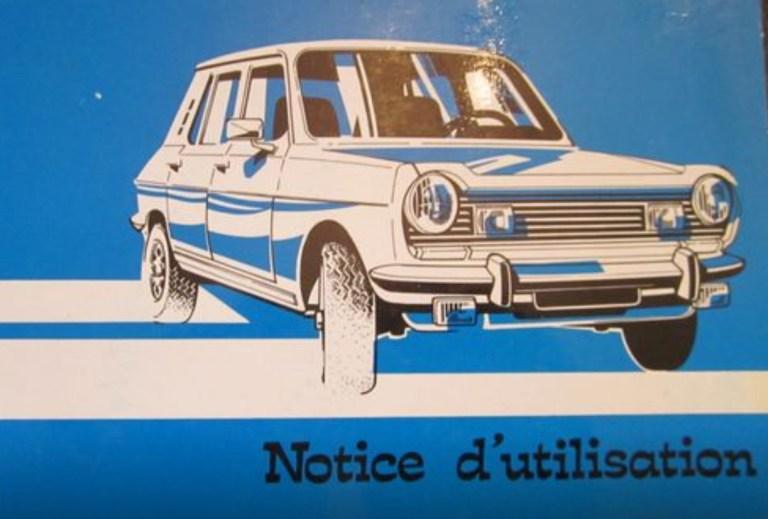 Notice d'utilisation de la Simca 1100