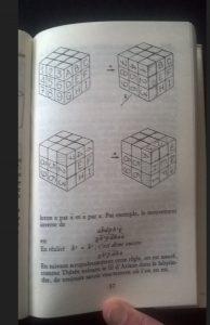 Rubik's cube Page du livre réussir le Rubik's cube
