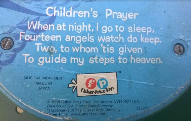 Blue bird music box paroles de la chanson children's prayer