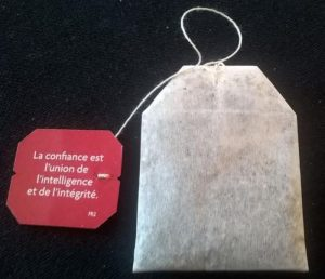 Sachet de yogitea avec la citation