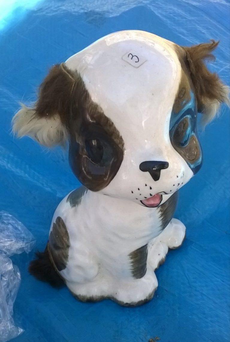 Tirelire céramique vintage chien
