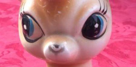 Bambi en céramique faon vintage
