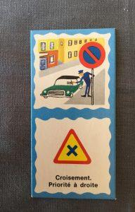 Jeu Fernand  Nathan vintage domino du code de la route