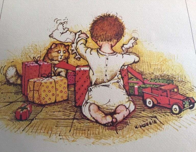 Illustration de l'américaine Denise Holly Ulinskas du calendrier mois de décembre 1973