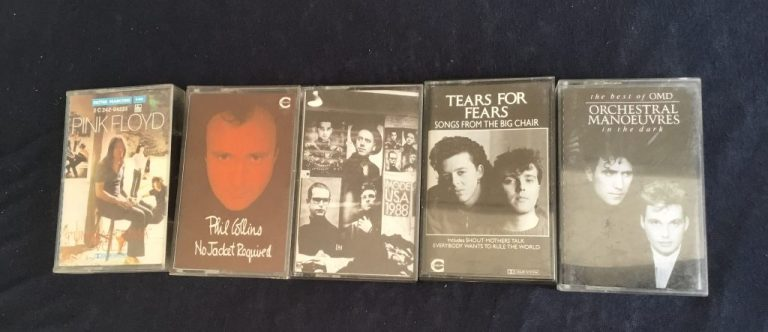 Cassettes audio vintage pour range cassette Girandola