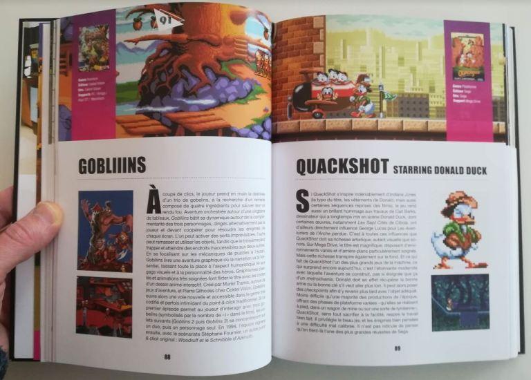 Génération jeu vidéo années 90 - Tome 1. Page ouverte sur Gobliiiins et Quackshot.