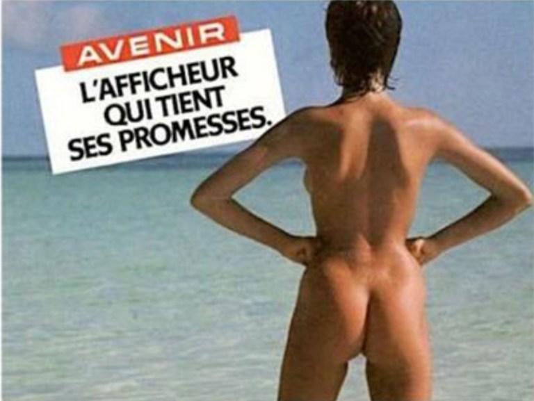 J'enlève le haut Affiche Myriam agence CLM l'afficheur qui tient ses promesses Avenir