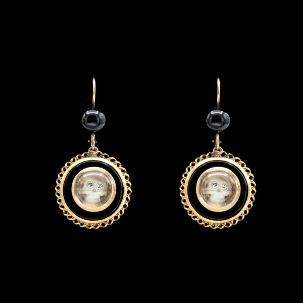 Onyx Drop Mori Earrings