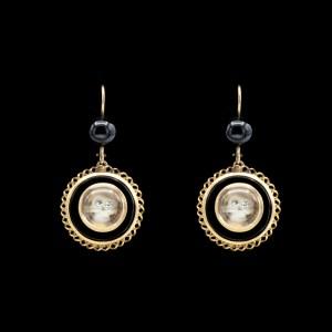 Onyx Drop Mori Earrings
