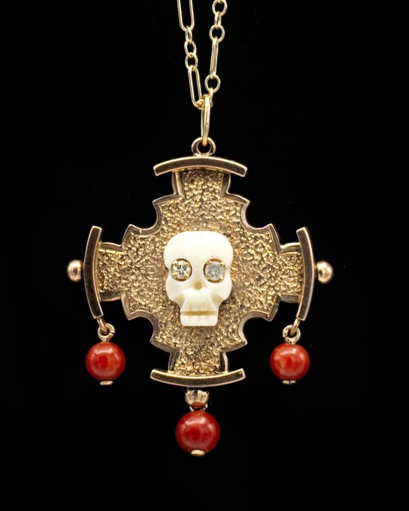 Coral Maltese Cross Mori