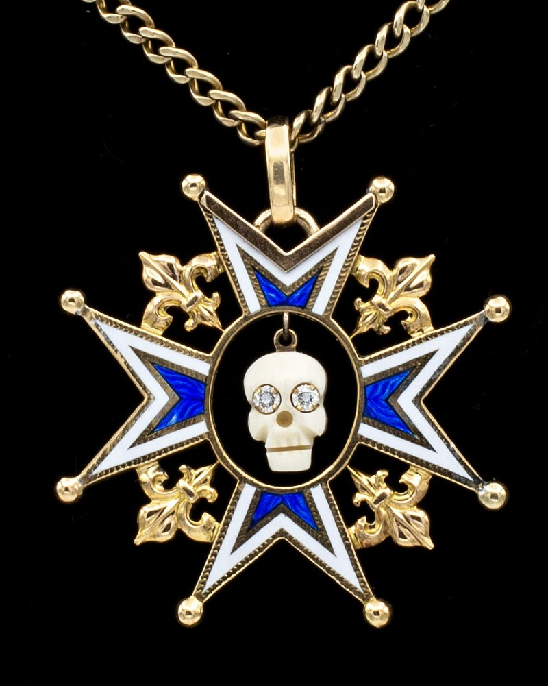 Enamel Maltese Cross Mori
