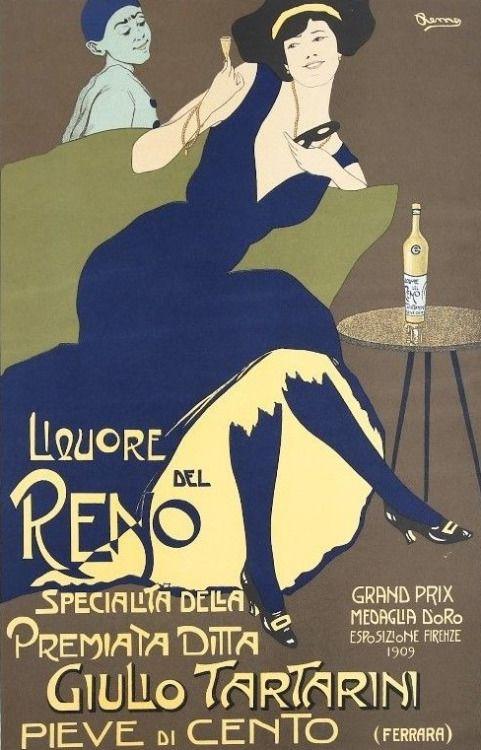 """Remo Branca liquore Del Reno - """"Liquore Del Reno,"""" Remo Branca, 1909"""