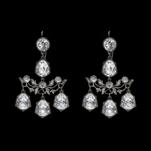 27088 - Revival Paste Trellis Girandole Earrings