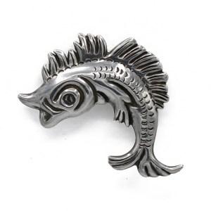 29687 - Taxco 980 Silver Rafael Melendez Flying Fish Brooch