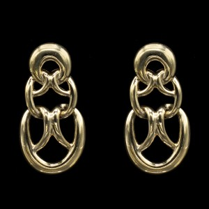 30496 - Givenchy Swag Earrings, 1990