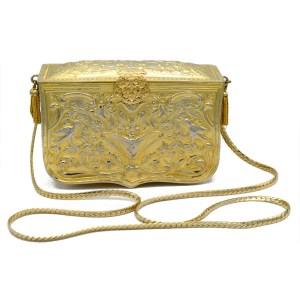28964 - Judith Leiber Gold Tone Metal Handbag, 1960s