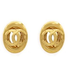 29227 - Chanel Oval CC Logo Earrings, 1992