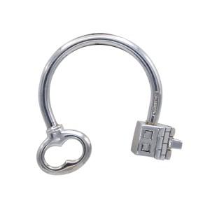 Tiffany & Co. Sterling Key Head & House Charm Key Chain, 1990
