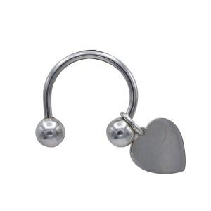 Tiffany Sterling Heart Charm Key Ring, 1990