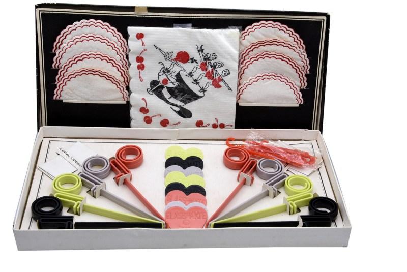 Glass-Mate 3D Multi Purpose Stirrers, Original Box and Accessories, 1960s