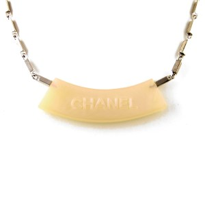 Chanel 15 3/4 Iridescent Acrylic & Silver Necklace, Cruise 2000