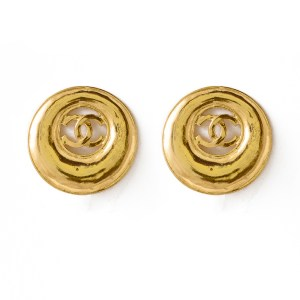 Chael Concentric Rings Logo Earrings, 1993