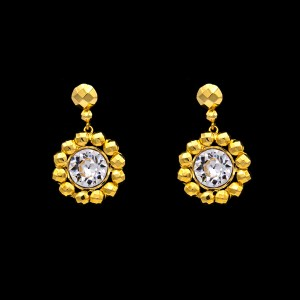 Product Photo of Revival Paste Gilt Florette Earrings