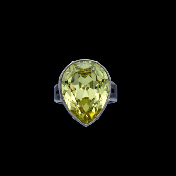 Front Product photo of Revival Paste Jonquil Pear Shaped & Sterling Ring
