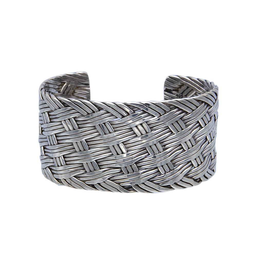 6fc48de8c Mexican Sterling Silver Woven Cuff Bracelet – Vintage 329
