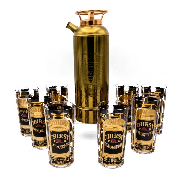 Product Photo of Georges Briard Fire Extenguisher Shaker Set